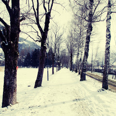 winter alley, instagram effect