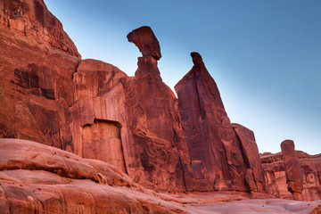 Queen Nefertiti Rock Park Avenue Arches National Park Moab Utah