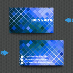 Business card template abstract background.
