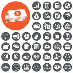 Investing & Finance Business Icons set. Vector Illustration eps1