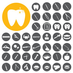 Dental Dentist theme icons. Vector Illustration eps10