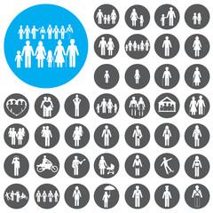 Family icons set. Vector Illustration eps10