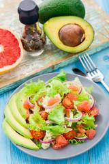Avocado salad on a plate