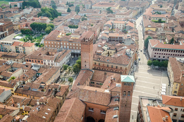Cremona, Italy, panorama from the Torrazzo