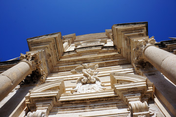 The gable of the Cathedral in Dubrovnik