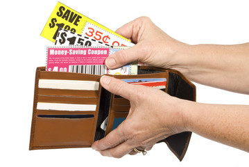 Thrifty Shopper Using Coupons