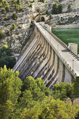 Dam of the reservoir Amadorio. Spain