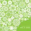 Vector abstract green and white circles frame corner pattern