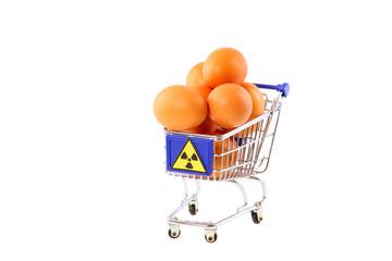 Radioaktiv verseuchte Eier