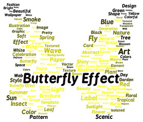 Butterfly effect word cloud shape