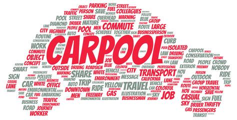 Carpool word cloud shape