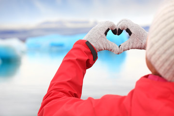Love for Iceland - hand heart by Jokulsarlon