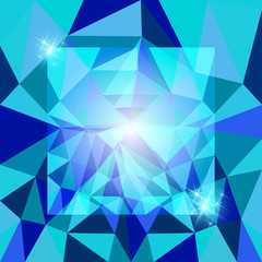 Abstract polygonal background with stars