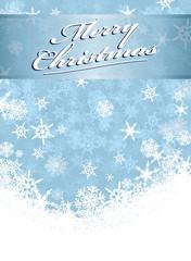 Merry Christmas Card Snowflakes