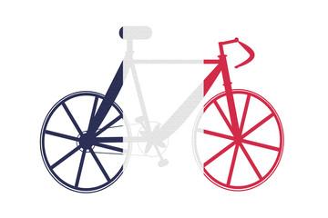 bike with flag france