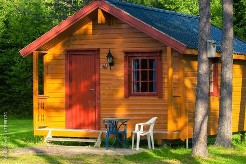 canvas print picture Norwegian camp