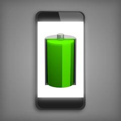 Smatphone con batteria carica