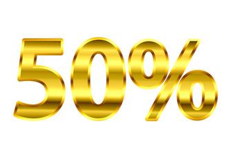 50% Dourado