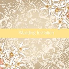 Wedding card in vintage style