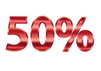 50% Metálico Vermelho