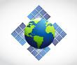 globe solar panel illustration