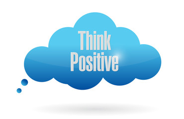 think positive cloud illustration
