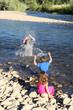 Splashing kids