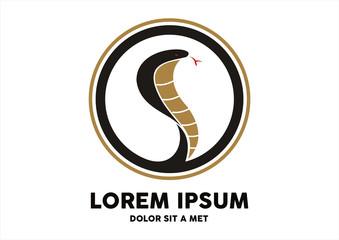Cobra snake silhouette vector logo design template