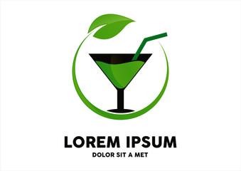 drink vegetarian logo vector