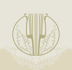 Symbolic image. Lyre.