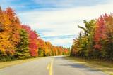 Fototapety Road to Keji in fall