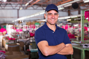 senior clothing factory owner portrait