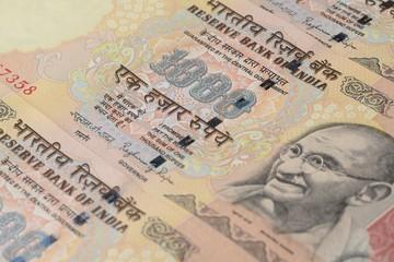 Thousand Rupee Note Close Up