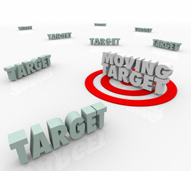 Moving Target Changing Plan Strategy Find Elusive Location