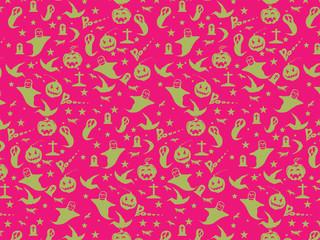 Halloween Seamless Pattern Background : Vector Illustration