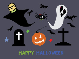 Halloween characters : High resolution jpg included.