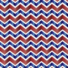 Chevron pattern in red, white, blue