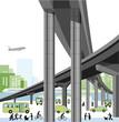 Stadtautobahn und Verkehr
