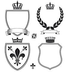 Schilder und Heraldische Wappen