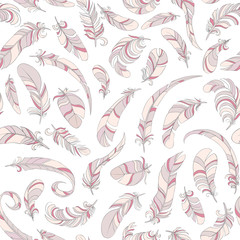 thin feathers seamless vector