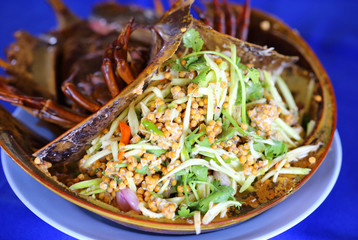 Thailand Food - Spicy Horseshoe Crab Egg Salad