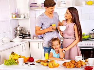 Parents prepare  child for school