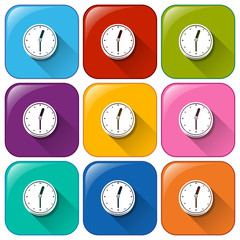 Clock buttons