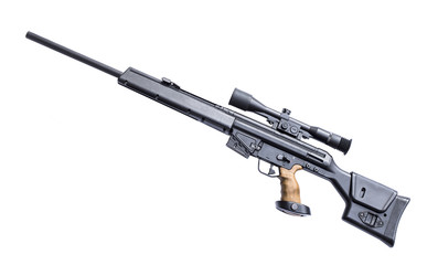 Sniper rifle with riflescope