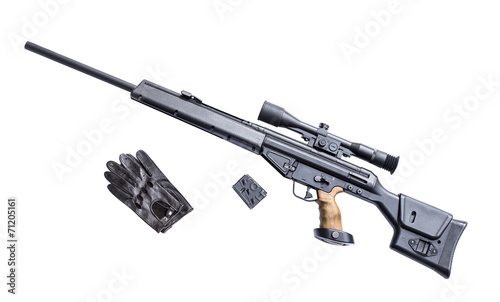Sniper rifle with riflescope - 71205161