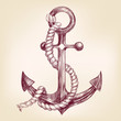 anchor hand drawn vector llustration - 71205320