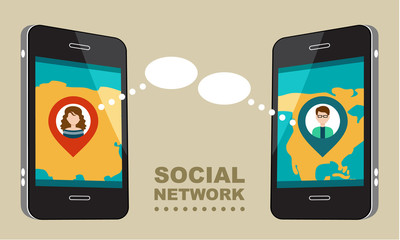 Concept for social network.