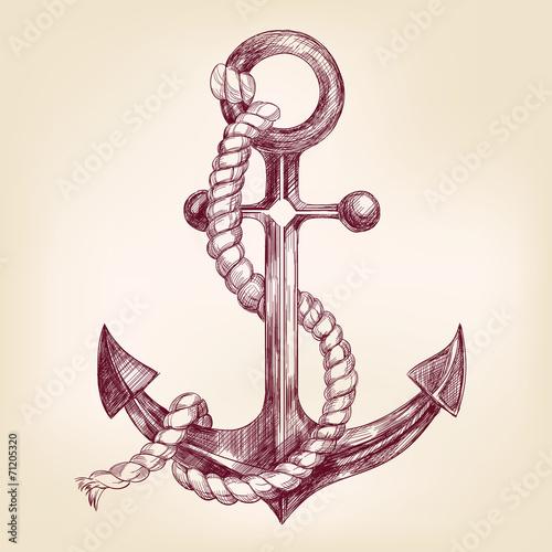 anchor hand drawn vector llustration - 71205320