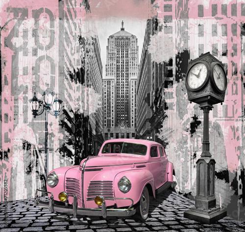 Vintage pink auto