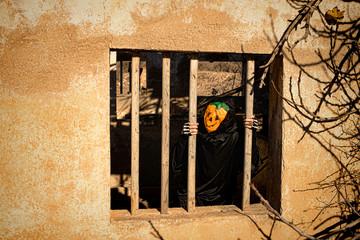 Locked in Halloween monster